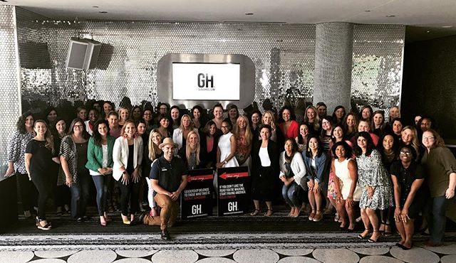 Group shot from our amazing group of ladies at #GHVision ❤️👠 (photo cred: our amazing photographer @onesocialgirl 👏🏼)
