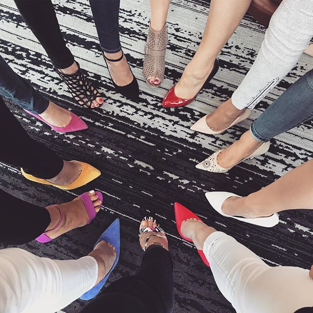 Putting our best foot forward at #GHVision 👠