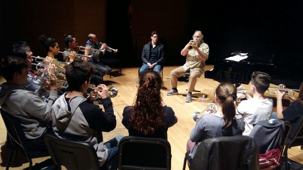 Ken Larson at Conservatorio Victoria de los Ángeles in Madrid, Spain, 2018