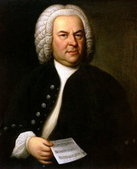The famous Bach portrait painted by Elias Gottlob Haussmann (1746).