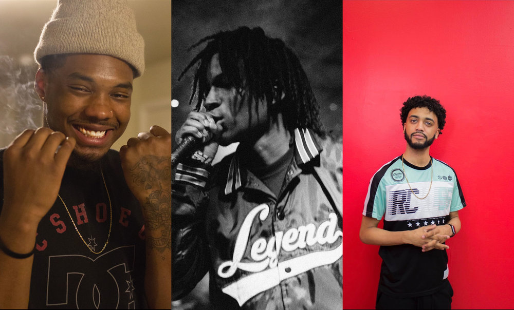 LoveSongDesmond, Leak Leisure and Maliq make up the group Space League. The group experiments with hip-hop sounds to create their own style of music. Photo credit: Space League