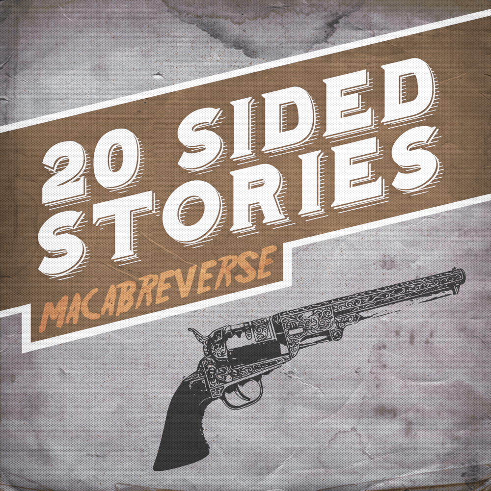 Macabreverse cover art, featuring an old pistol