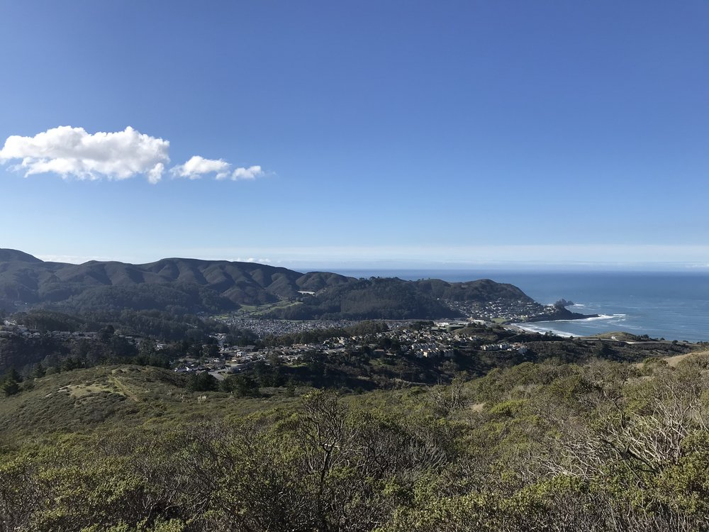 San Pedro Creek Watershed as seen from Cattle Hill looking South towards the San Pedro Headlands.