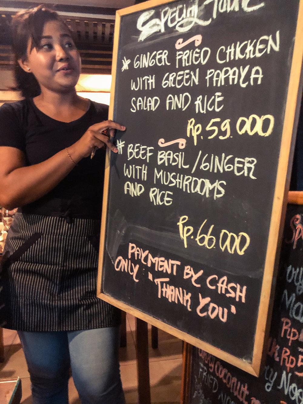 curry menu