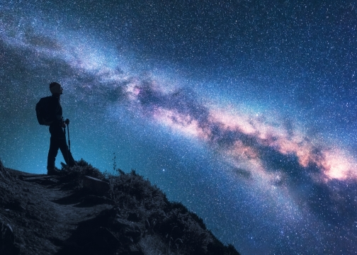 Space with Milky Way