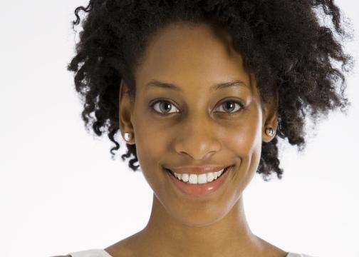 Confident, smiling woman
