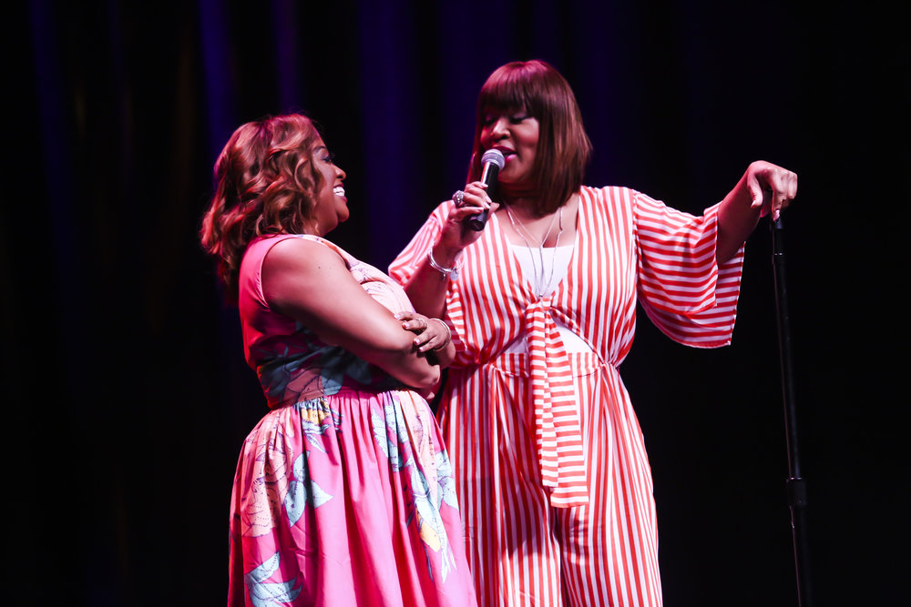Comedians Sherri Shepherd/Kym Whitley at Lipstick 'N Laughter Essence Festival, New Orleans 2018
