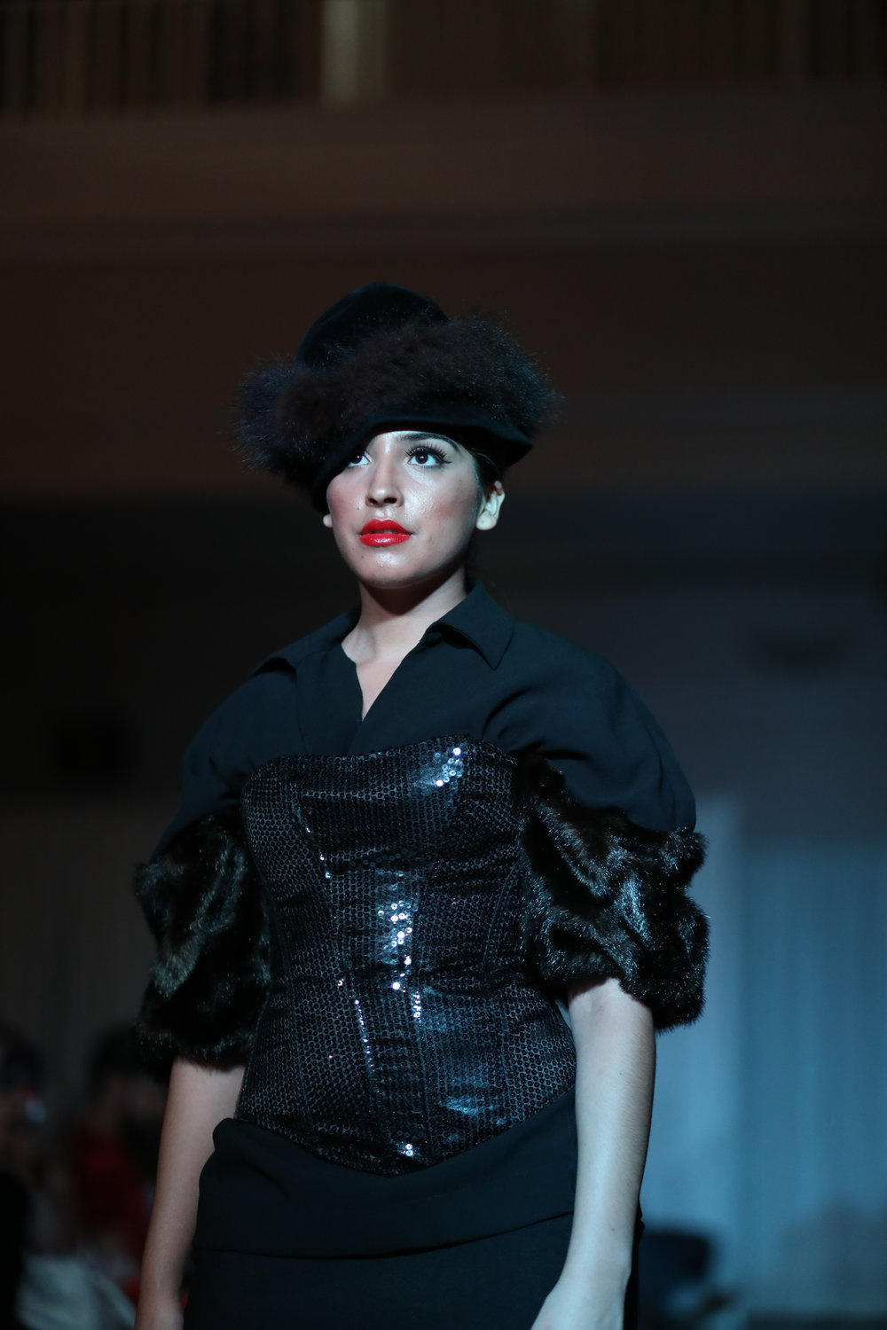 Hair Fashion Week model wearing ASE Beauty Lipstick