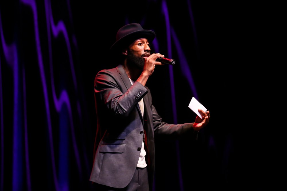 Pre-show Host Drego Moore at Lipstick 'N Laughter at Essence Festival, New Orleans 2018