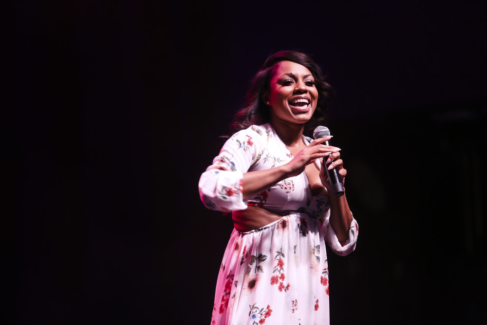 Comedian Ms Pretty Ricki at Lipstick 'N Laughter Essence Festival, New Orleans 2018