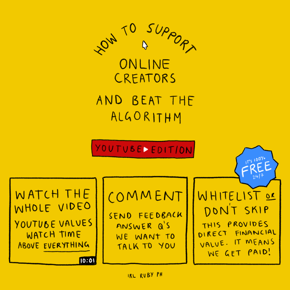 Support Online Creators: YouTube - 2018