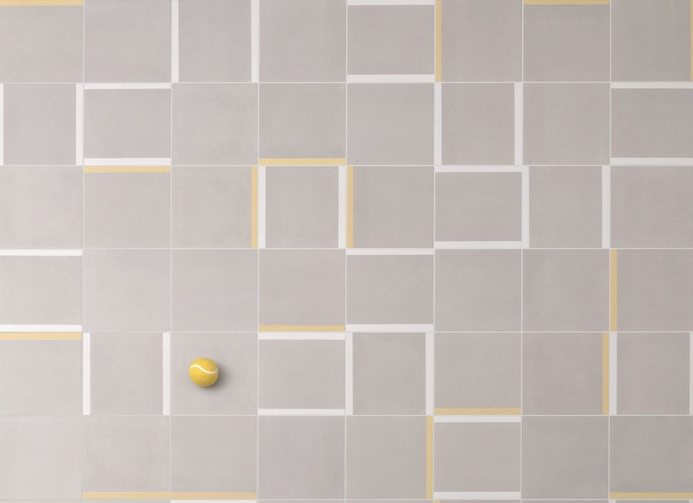Logic… - is a porcelain tile range of 20x20cm cement coloured tiles paired with decorative coloured tile pieces. High slip resistance and durability makes this suitable for commercial floors and walls as wall as domestic use. For more information take a look at the product page here.