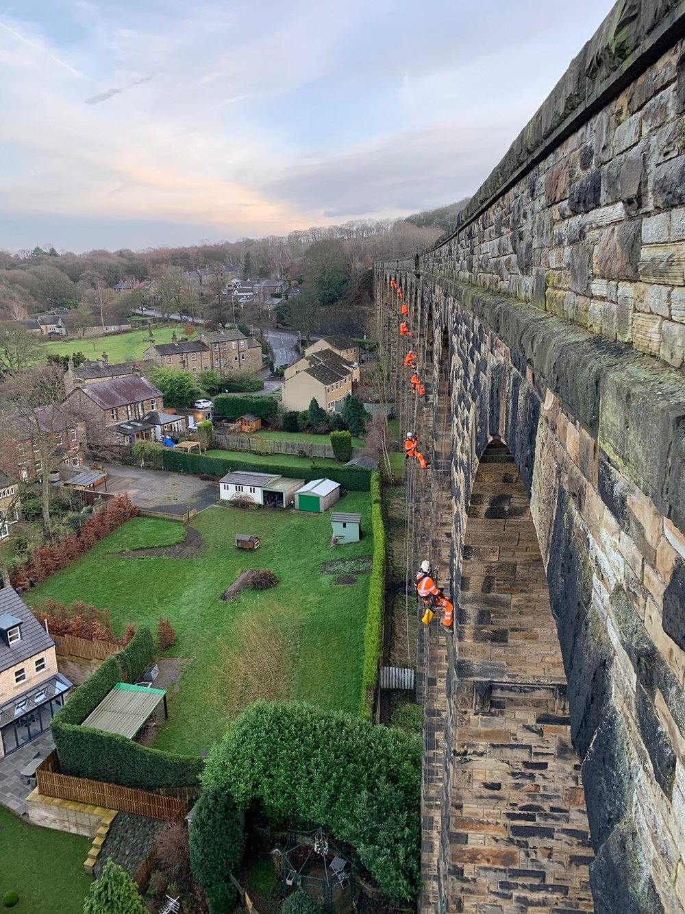 Denby Dale Rail Viaduct -  Repointing Works