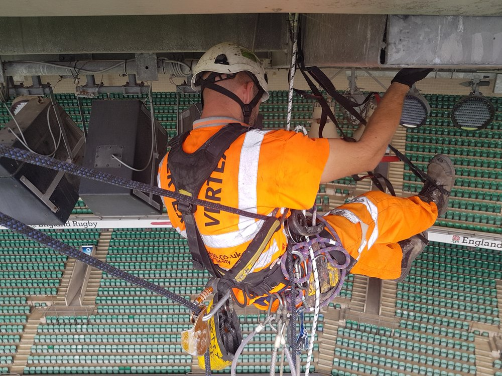 Stadium Electrical and Lighting Rope Access Services