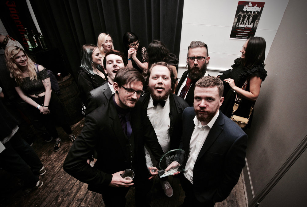 Tenements immediately after winning the Award for best Metal act of 2018