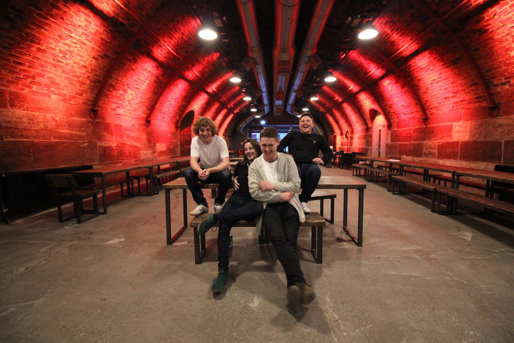 During a press junket we caught a great shot of The Snuts in the railway tunnels of the arches.