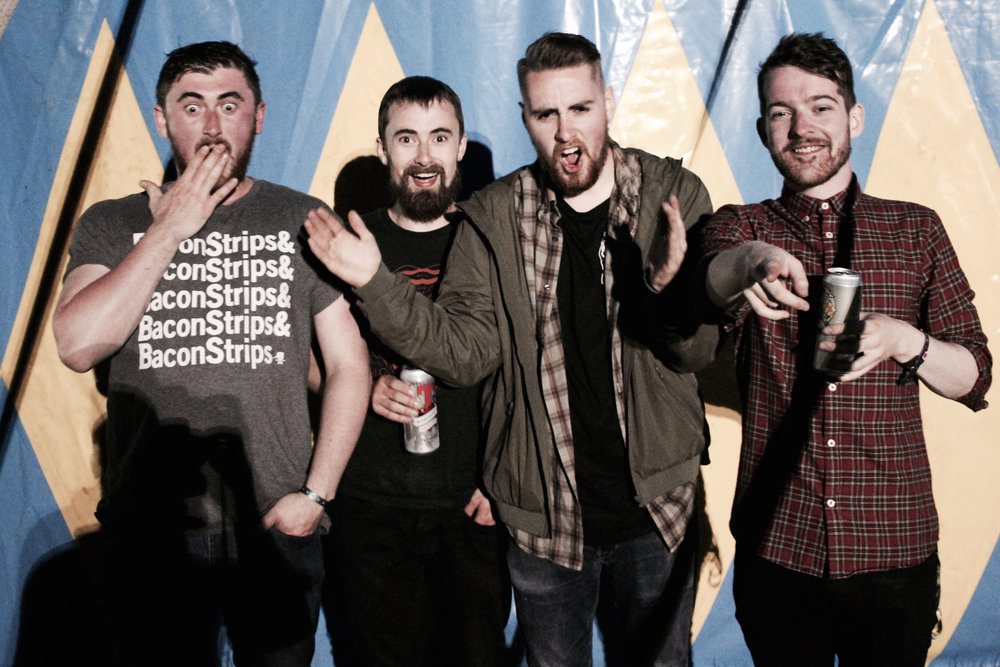 We were shooting interviews for Tennent's Lager at T in the Park. This was one of the test shots. It caught the band's post-show euphoria perfectly.