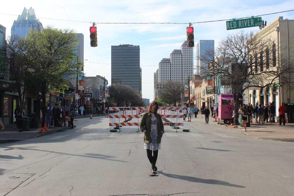 While out doing PR for shows, we caught this shot on the crossroads of Red River and 6th Street