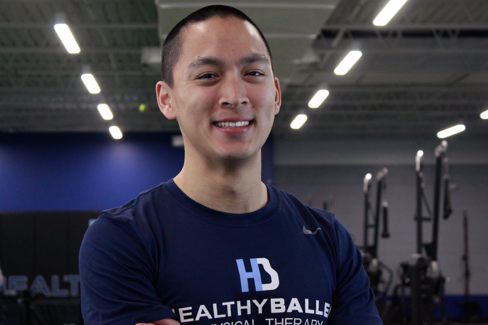 DR. WESLEY WANG, PT, DPT | LEAD PHYSICAL THERAPIST   Wesley prioritizes building a trusting with each patient, while focusing on treating the source of the pain. He received his Doctor of Physical Therapy from Franklin Pierce University, and a B.A. in Economics from the University of Maryland.  Wesley works with athletes of all ages, and his treatment philosophy centers around movement, strengthening and patient education. He develops individualized treatment plans and strives to empower his patients, giving them the necessary tools to get back to their respective sports and daily activities. Having personally suffered 2 ACL tears from playing basketball, Wesley's treatments prioritize regaining full mobility, strength and confidence to reduce the likelihood of suffering another injury.