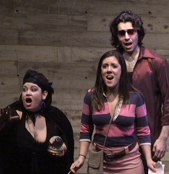 Leona Carney, Kristen DiNinno, and Joseph Flaxman in Jack Perla's Love/Hate