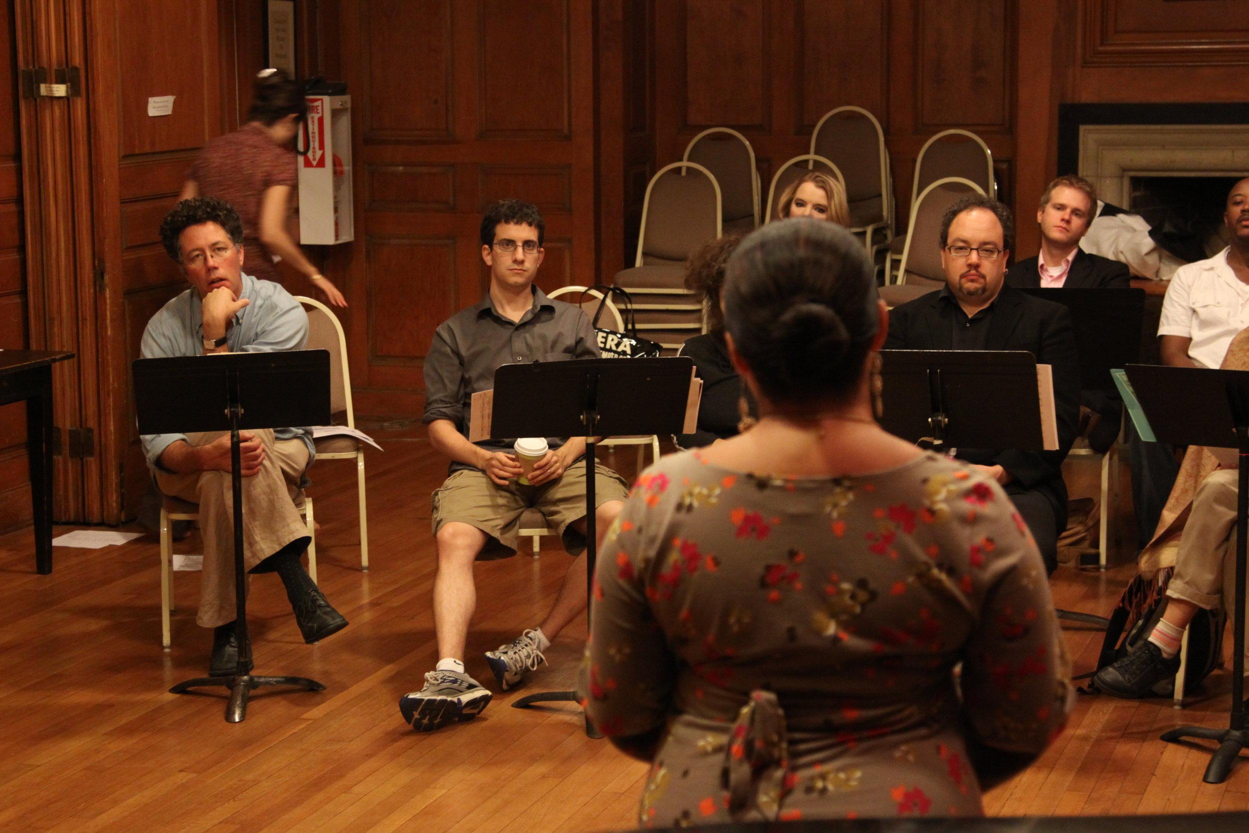 Soprano Andrea Arias-Martin sings