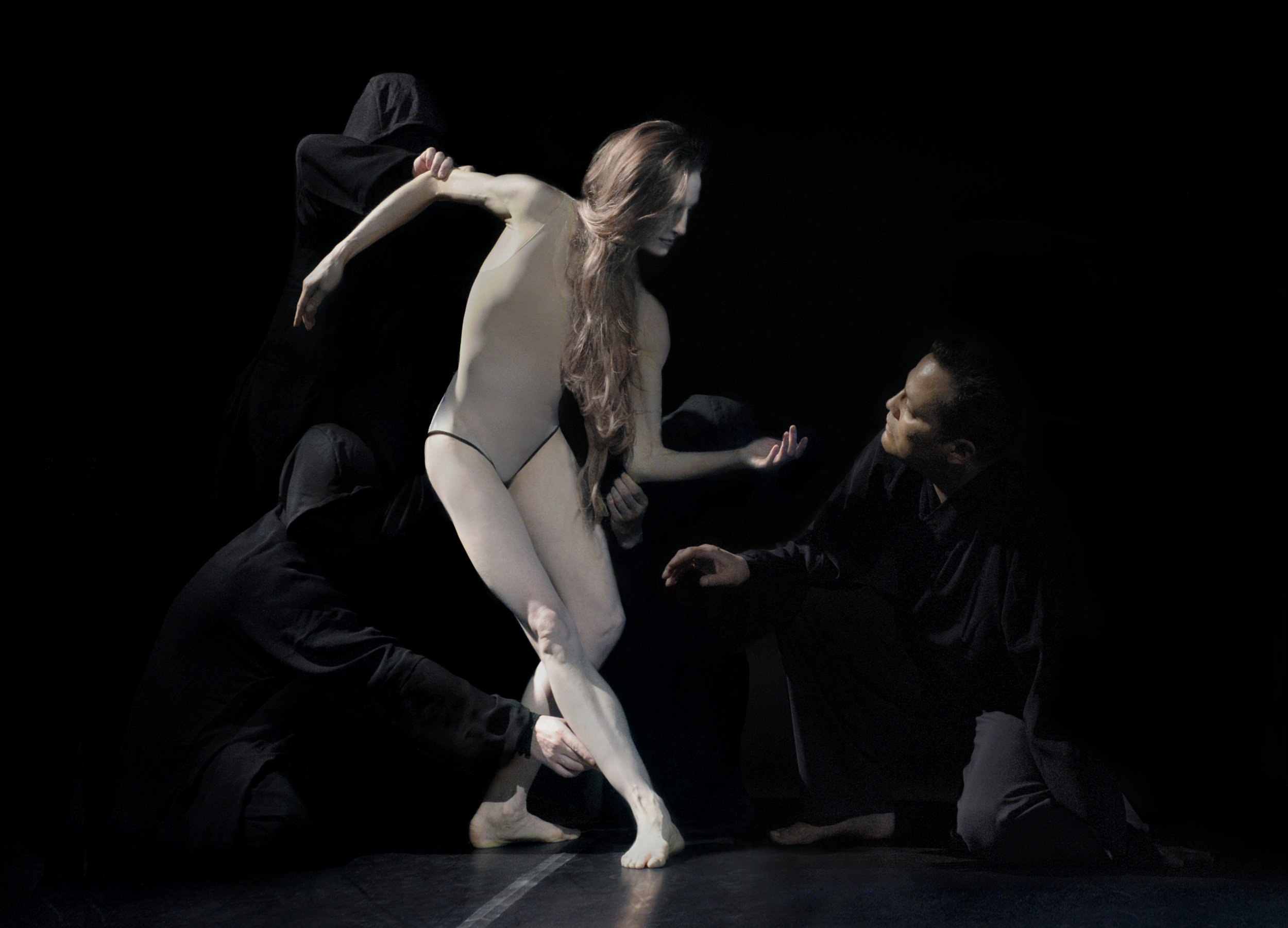 Dancers Wendy Whelan and Jock Soto star in the world premiere of HAGOROMO. Photo by David Michalek.