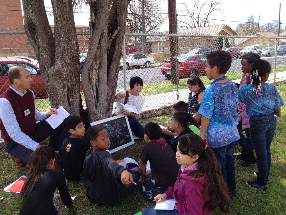 Volunteer architects worked with Blackshear students and teachers to conduct an existing audit of their schoolyard
