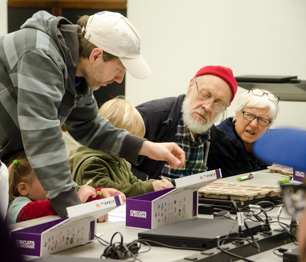 Electronics classes for all ages at the Arduino Day Makers event.