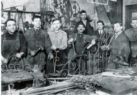 The founder of Seasons Too is pictured here (3rd from right) in the 1920's in our original building at 164 Mulberry St., New York City. Da Nico Restaurant now occupies the site.