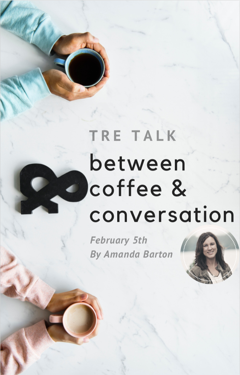 tre talk - Amanda Barton will share her faith journey with us and how it led her to Royal Family Kids Camp. Grab a friend, a coffee and listen to her story!RSVP to our Facebook event for updates and more information: https://www.facebook.com/events/365590014220470/