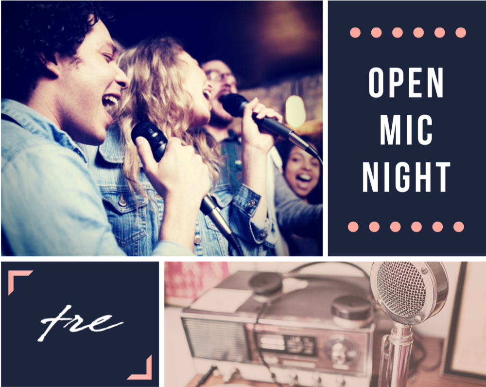 Open Mic Night - Stop in anytime March 15th from 7-830pm. Whether you come to play, sing, or listen you are welcome! All ages encouraged to attend!Music will be in the Bridge room. We also have board games or you can bring your homework!