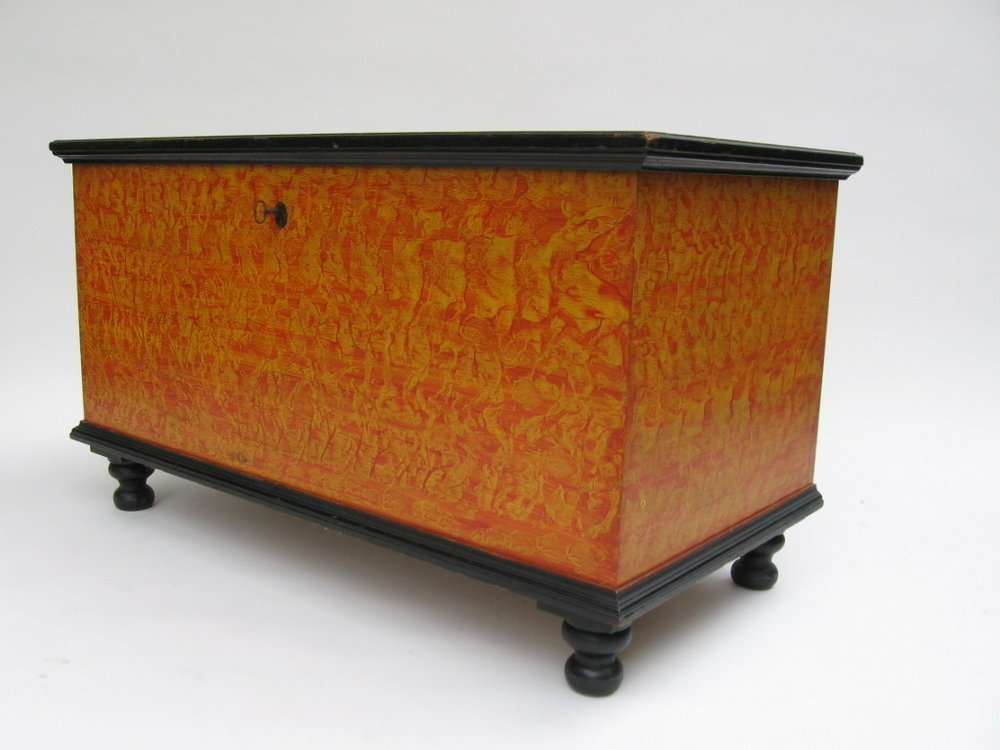 Pennsylvania Paint Decorated Mannheim Blanket Chest