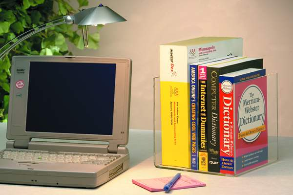 Single Book Supports work perfectly to organize work spaces with reference materials.