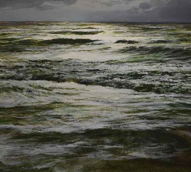 Moonlit Surf, 22x24