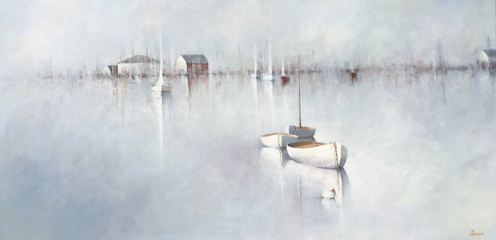 Daybreak at the Docks, 24x48