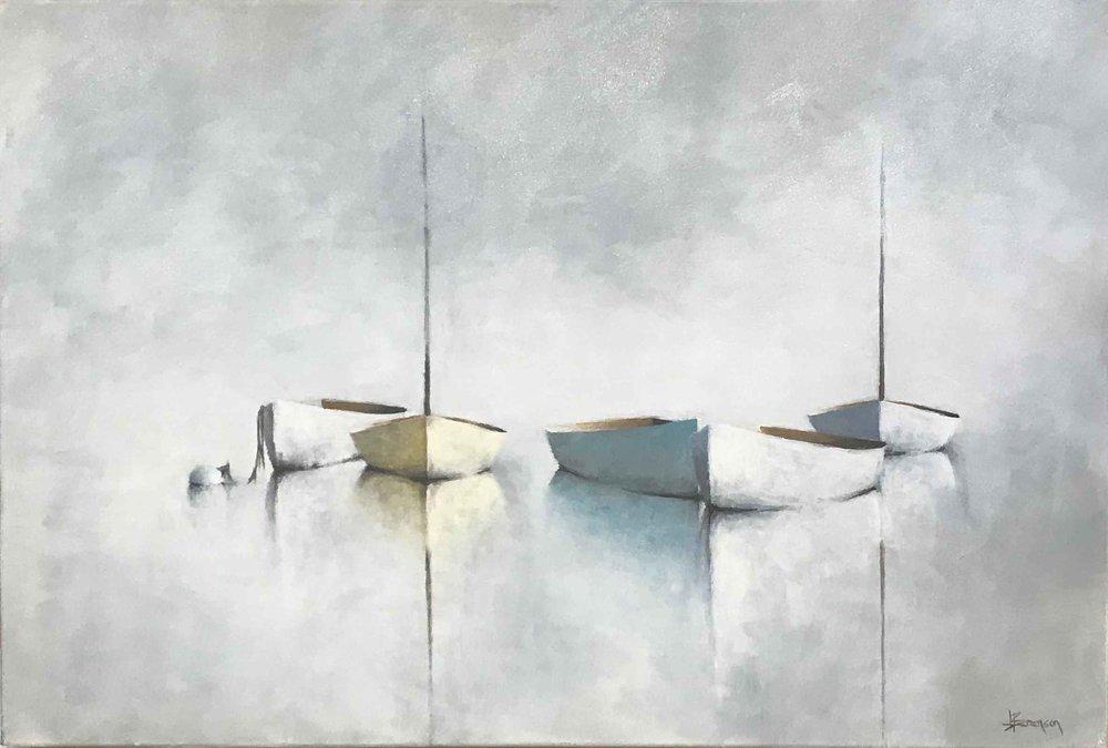 The Pastel Crayon Fleet, 24x36
