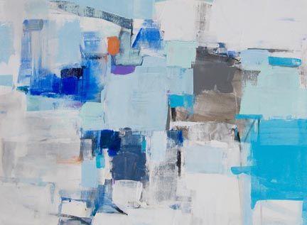 Cool Blue, 36x48