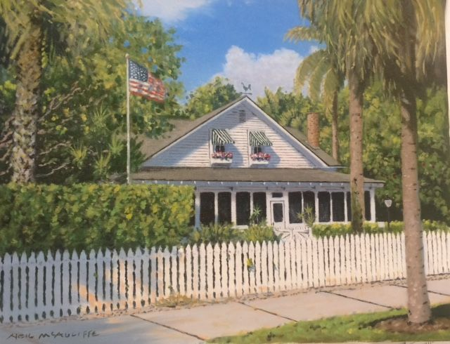 Palm Cottage Naples Florida, 14x18