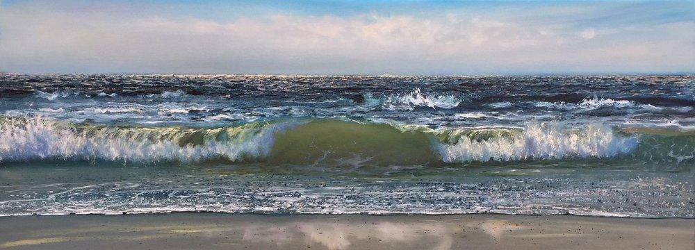 Crashing Waves, 25.5x67