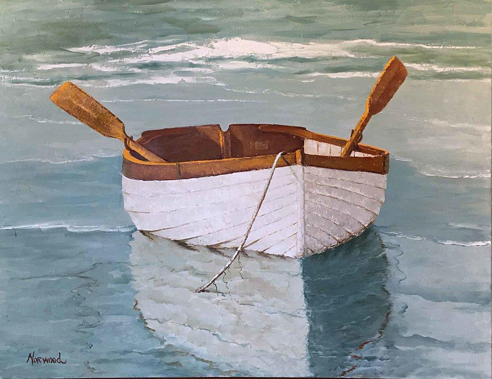 Oars Up Side View, 48x60