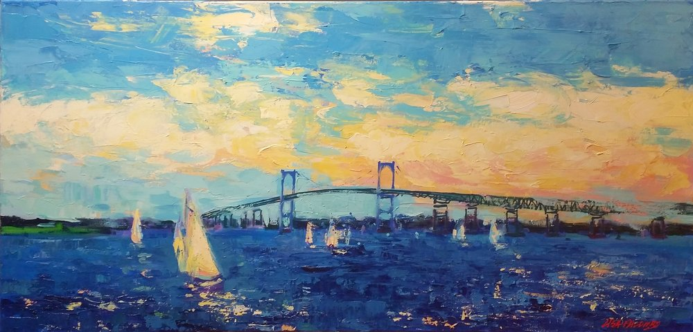 Summering in Newport, 24x48