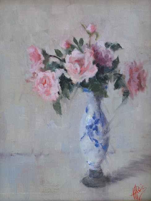 September Morning Roses, 12x9