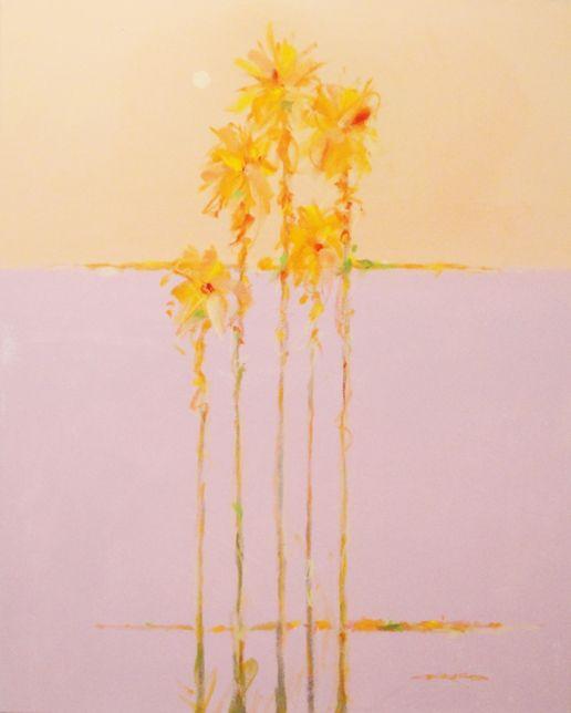 Pastel Palms II, 30x24