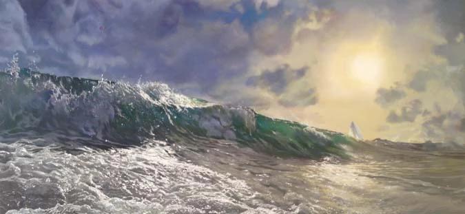 Silver Seas, 24x50