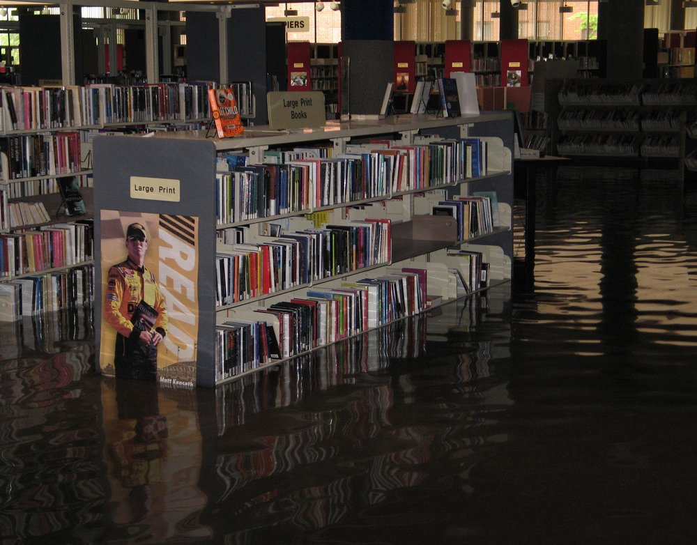 Library shelves flooded.jpg