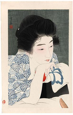 Torii Kotondo  1900-1976 Morning Hair ( Asanegami )