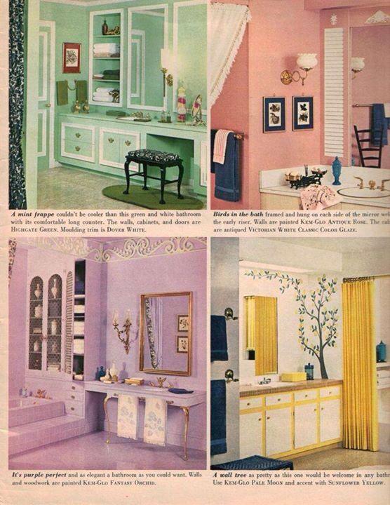 Interior design  1960's   (Image from pinterest)