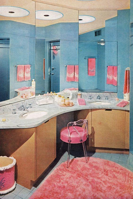 Bathroom Interior  1956  ( Image from pinterest)