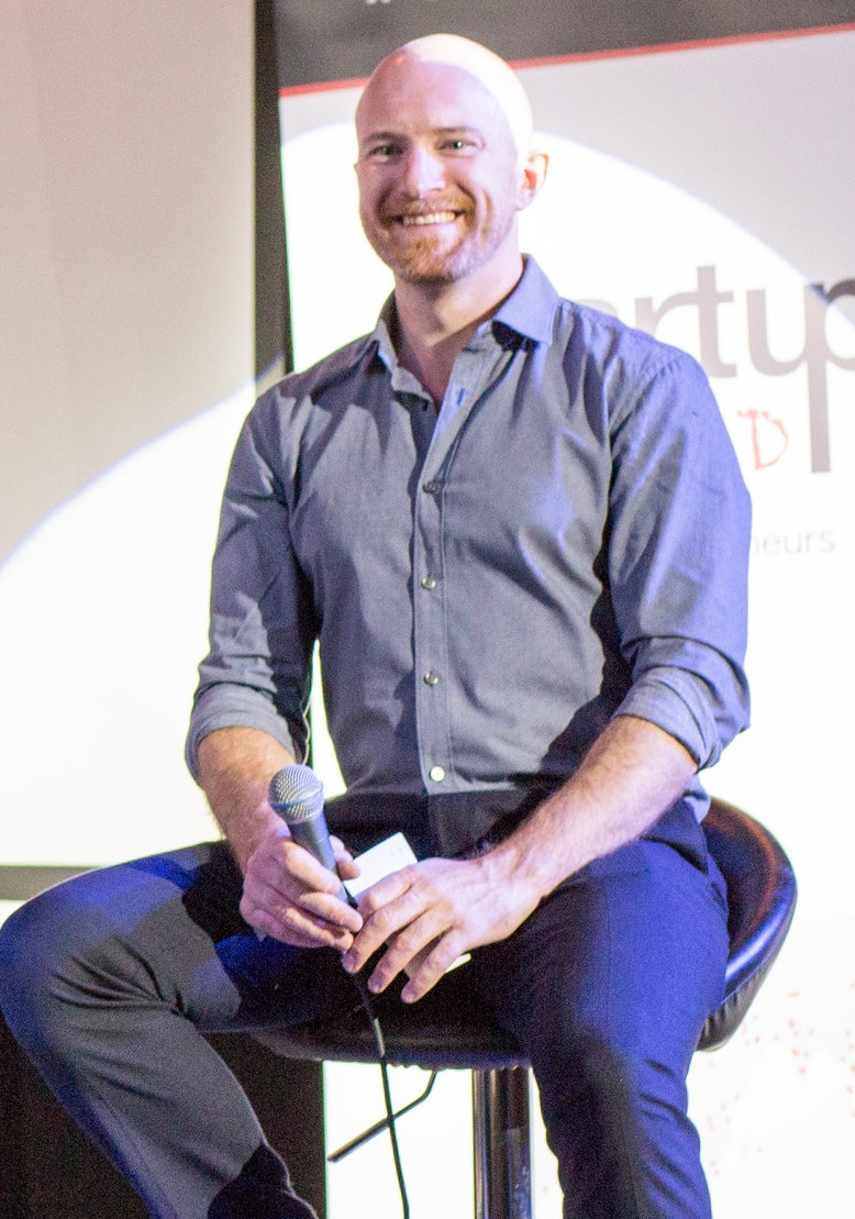 Chad Ford at interviewing at Startup Grind Calgary