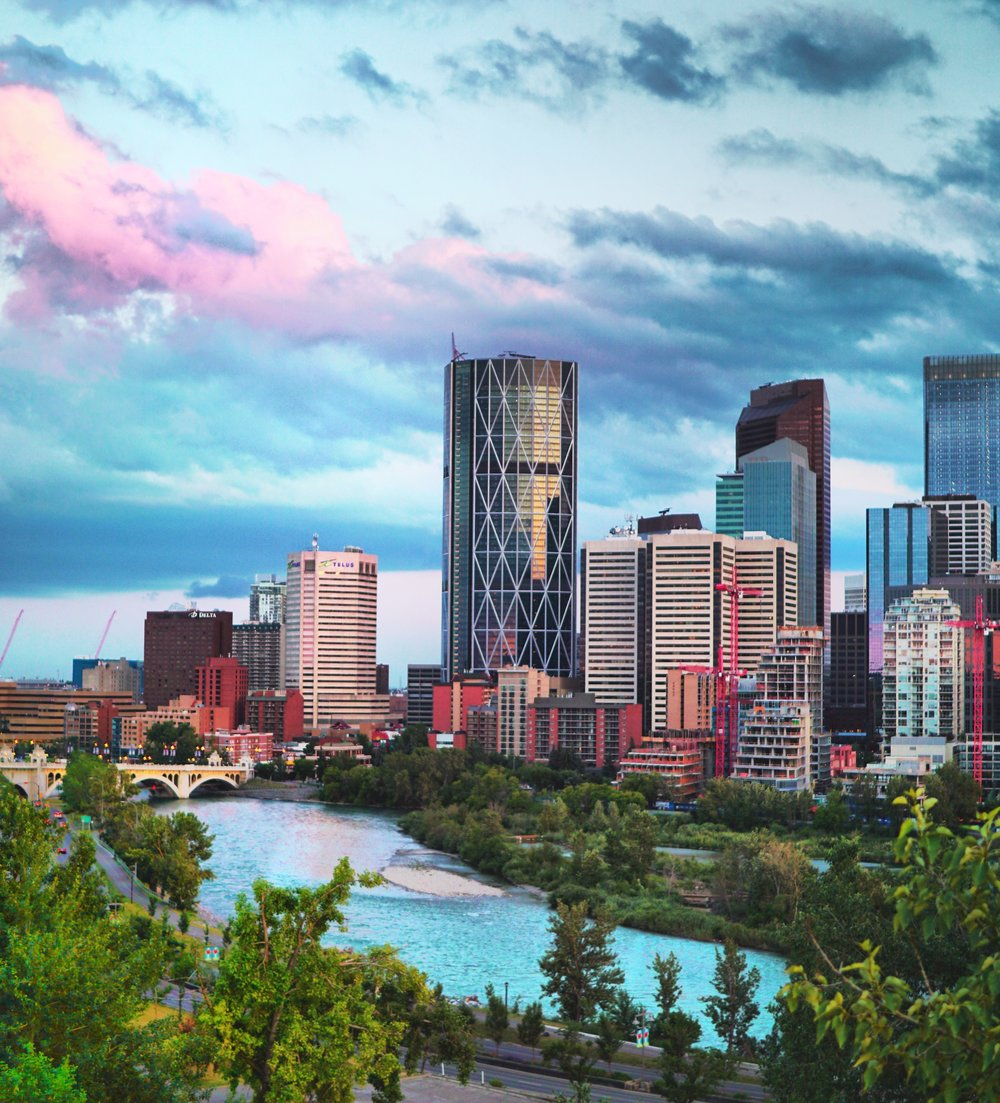Calgary Skyline from Chad Ford 2019 Calgary Centre